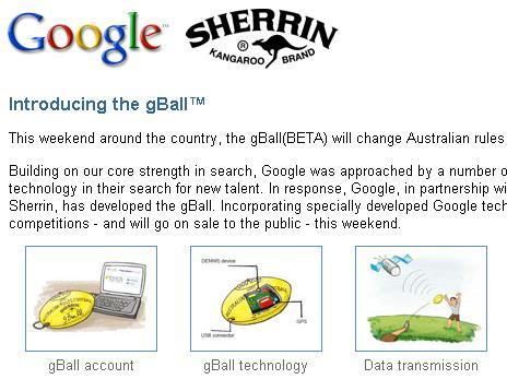 Google's April Fool 2009