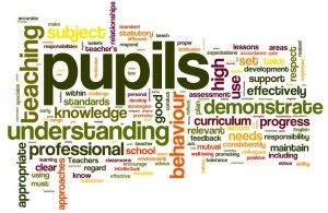 The new standards for teachers as a Wordle